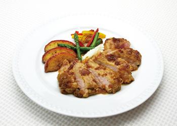 豚肉のソテー~アップルジンジャーソース~